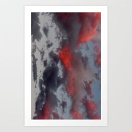 Cotton Candy Sunset Art Print