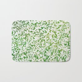 Shades of Green with White Bath Mat