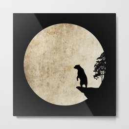 Bear Night Metal Print