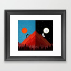 Kings of Day and Night Framed Art Print
