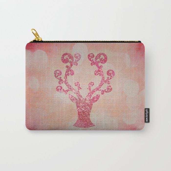 Pink sparkling glitter deer - Sparkle Effect Carry-All Pouch