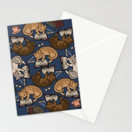 Book Cats Stationery Cards