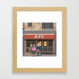 Oxford - Cornmarket Street Framed Art Print