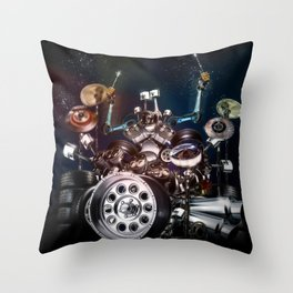 Drum Machine - The Band's Engine Throw Pillow