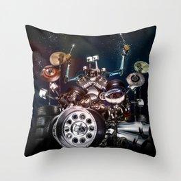 Drum Machine - The Band's Engine Throw Pillow