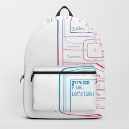 Let's talk! (Colour Version) by Thom Van Dyke Backpack