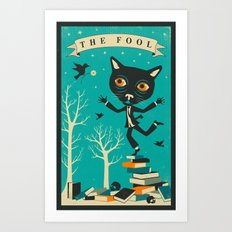 TAROT CARD CAT: THE FOOL Art Print