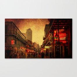 Bourbon Street Grunge Canvas Print