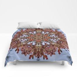 Autumn oak and pine kaleidoscope Comforters