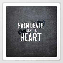 The Book Thief - Even Death Has a Heart Art Print