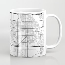 Minimal City Maps - Map Of Fontana, California, United States Coffee Mug