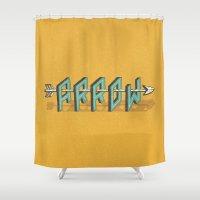 arrow Shower Curtains featuring Arrow by Pilgrim