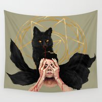 stiles Wall Tapestries featuring Setting Sun by @cuisle