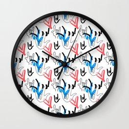 I Love You ILY Wall Clock