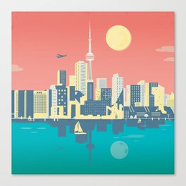 Toronto City Skyline Art Illustration - Cindy Rose Studio Canvas Print