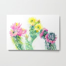 Cacti Succulents, Desert design Arizona Cacti Southwestern Art Metal Print
