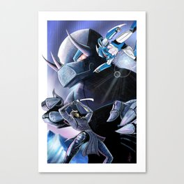 Battle of the Mechs Canvas Print