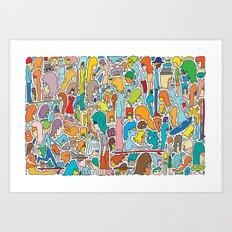Morning Report Color Art Print