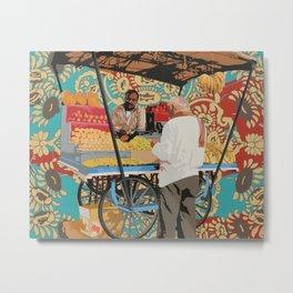 Fruit Seller Metal Print