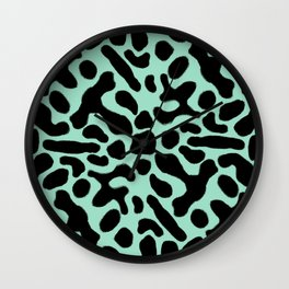 Green and Black Poison Dart Frog Wall Clock