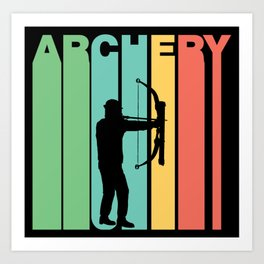 Retro Style Archery Bow And Arrow Archer Art Print