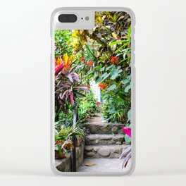 Dreamy Mexican Jungle Garden Clear iPhone Case