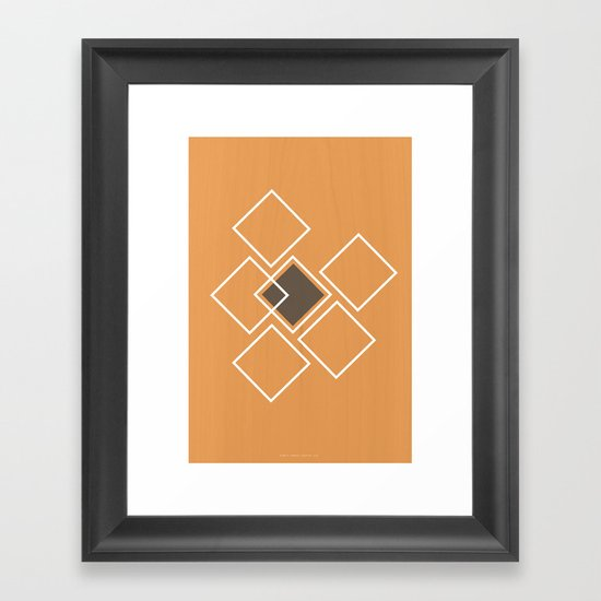 Squares Framed Art Print