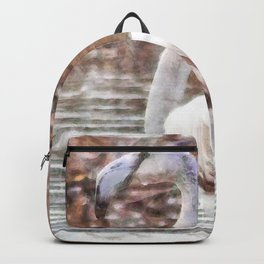 Flamingo Feathers Watercolor Backpack