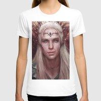 thranduil T-shirts featuring Thranduil Portrait by Jay Lockwood Carpenter
