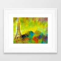 eiffel Framed Art Prints featuring Eiffel by Alexandre Reis