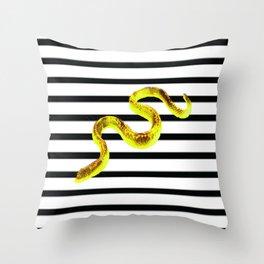 ssssssstripe II Throw Pillow