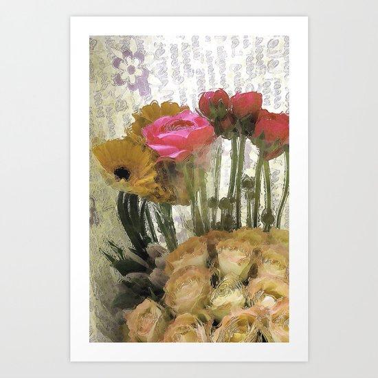 Glossy Love Letters 2 Art Print