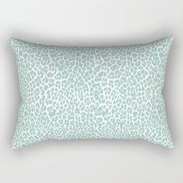 Mint Leopard Print Rectangular Pillow