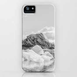 Icebergs (Black and white version) iPhone Case