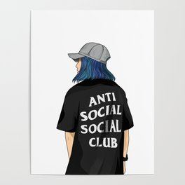 Anti Social Social Club Vector Poster