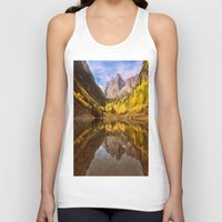 mountains Tank Tops featuring mountains. Mirror Lake by 2sweet4words Designs