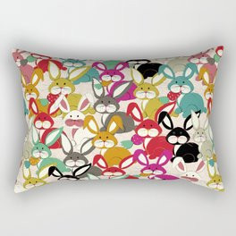 Colored  Easter bunny seamless pattern Rectangular Pillow