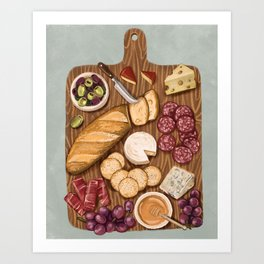 charcuterie board Art Print