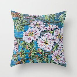 Flowers Painting Throw Pillow