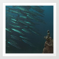 Underwater Moonlight Art Print