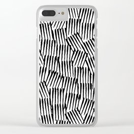 Crosshatched yourself Clear iPhone Case