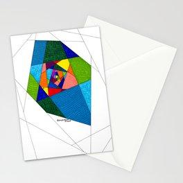 Stain Glass Hallway  Stationery Cards