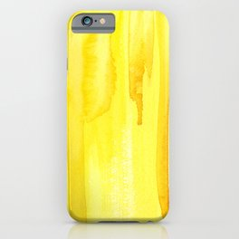 Yellow no. 2 iPhone Case