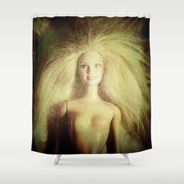 The old doll now is the new doll of a little girl Shower Curtain