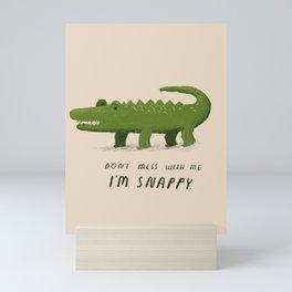 i'm snappy Mini Art Print