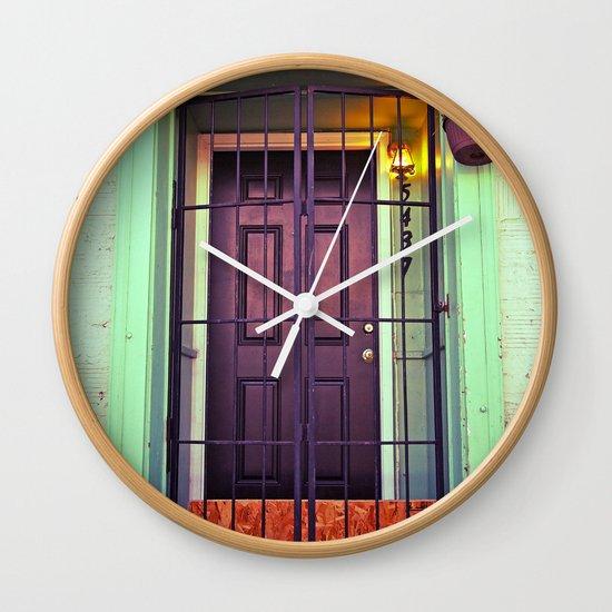 The back door Wall Clock
