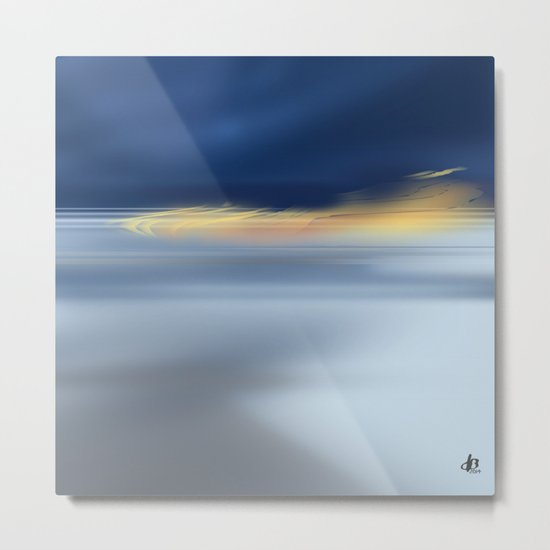 Midnight Sea Metal Print