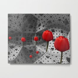 the way in Menger's sponge Metal Print