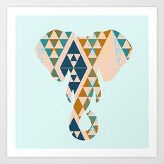 Gajraj - The Elephant Head Art Print