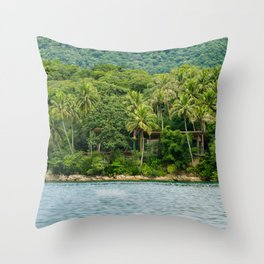 House in a Island Throw Pillow